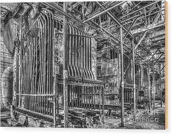 Abandoned Steam Plant Wood Print