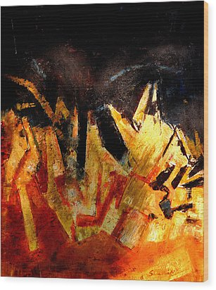 Abstract-6 Wood Print by Anand Swaroop Manchiraju