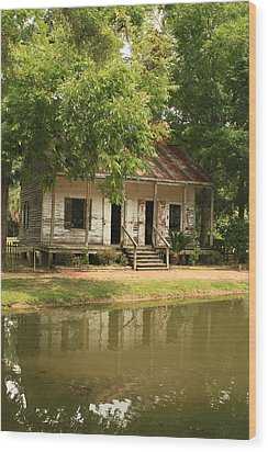 Acadian Village Lafayette Louisiana Wood Print by Ronald Olivier