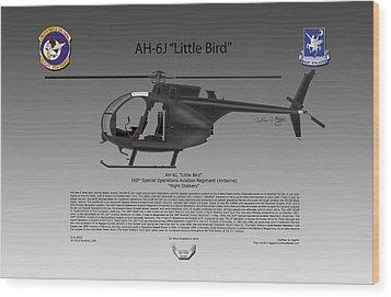 Ah-6j Little Bird Wood Print by Arthur Eggers