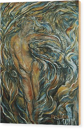 Wood Print featuring the painting Air by Dawn Fisher