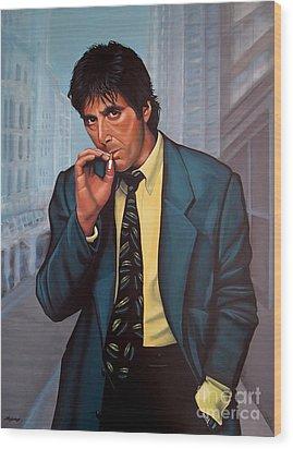 Al Pacino 2 Wood Print by Paul Meijering