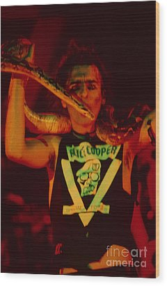 Alice Cooper At The Concord Pavillion Wood Print