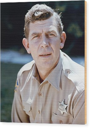Andy Griffith In The Andy Griffith Show  Wood Print by Silver Screen