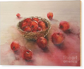 Apples  Apples Wood Print by Yoshiko Mishina