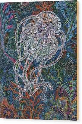Aquatic Apparition  Wood Print by Erika Pochybova