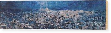 Athens Is Sleeping Wood Print by Jelena Ignjatovic