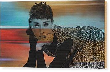 Audrey Hepburn Art Wood Print