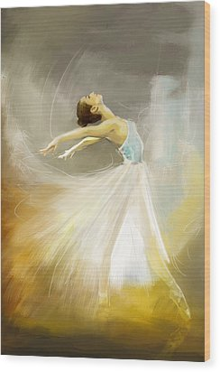 Ballerina  Wood Print by Corporate Art Task Force
