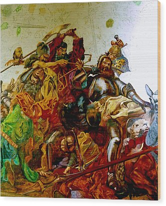 Wood Print featuring the painting Battle Of Grunwald by Henryk Gorecki