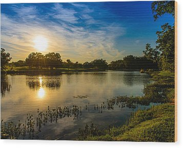 Berry Creek Pond Wood Print