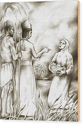 Biblical Illustration Wood Print