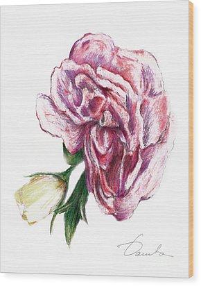 Blossom Wood Print by Danuta Bennett