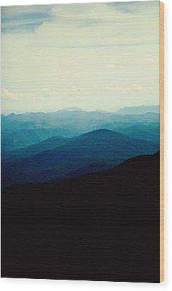 Blue Ridge Mountains Wood Print by Kim Fearheiley