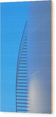Blue Stairs Wood Print by John King