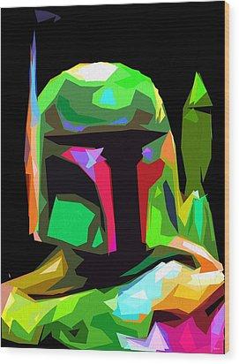 Boba Fett Star Wars Wood Print
