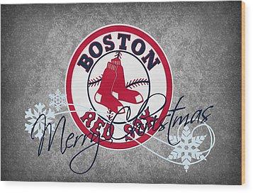 Boston Red Sox Wood Print by Joe Hamilton
