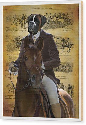 Boxer Art Canvas Print Wood Print