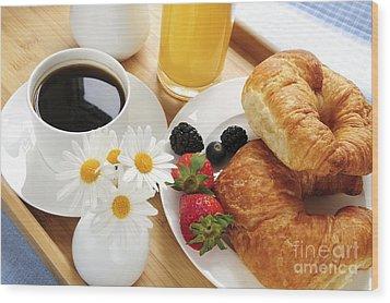 Breakfast  Wood Print by Elena Elisseeva