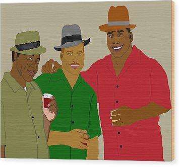 3 Buds Wood Print by Pharris Art