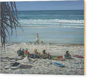 Burleigh Beach 220909 Wood Print