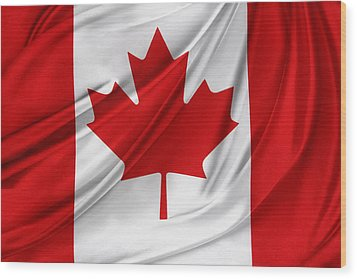 Canadian Flag  Wood Print by Les Cunliffe