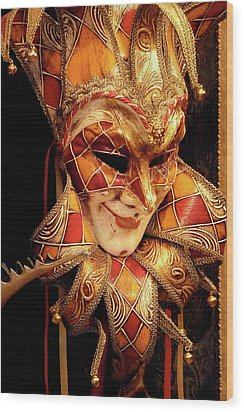 Carnivale Mask 1 Wood Print