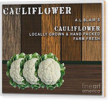 Cauliflower Farm Wood Print