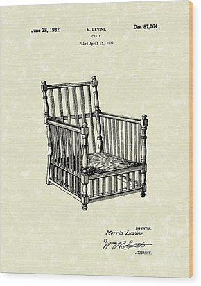 Chair 1932 Patent Art Wood Print by Prior Art Design