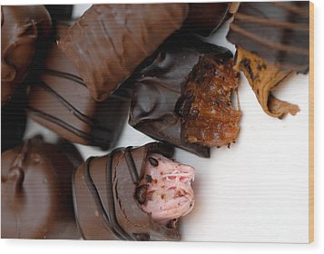 Chocolate Candies Wood Print by Amy Cicconi