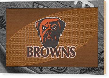 Cleveland Browns Wood Print by Joe Hamilton