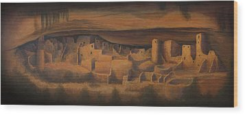 Cliff Palace Wood Print by Jerry McElroy