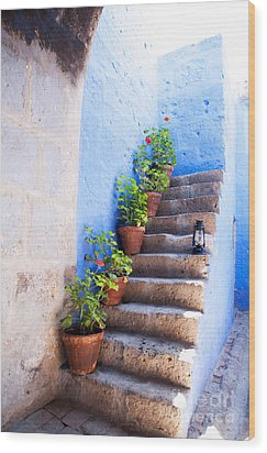 Colorful Old Architecture Details Wood Print by Yaromir Mlynski