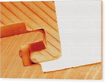 Connecting Tools Wood Print by Michal Bednarek
