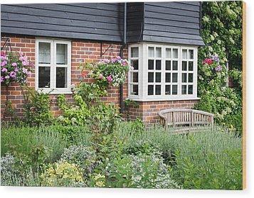 Cottage Garden Wood Print by Tom Gowanlock
