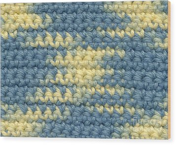 Crochet Made With Variegated Yarn Wood Print by Kerstin Ivarsson