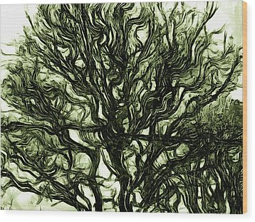 Dark Nature Wood Print