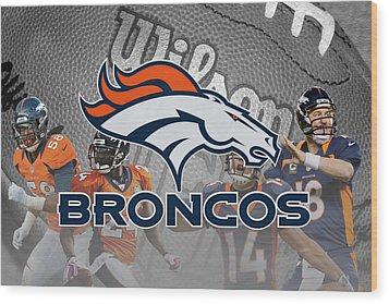 Denver Broncos Wood Print by Joe Hamilton