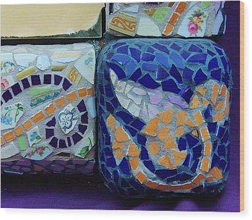 Detail Mosaics Wood Print by Charles Lucas