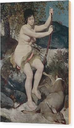 Diana Wood Print by Pierre-Auguste Renoir