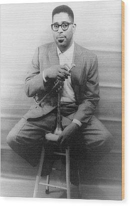 Dizzy Gillespie (1917-1993) Wood Print by Granger