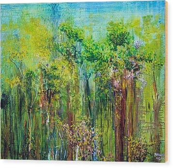 Edge Of Eden Wood Print by Regina Valluzzi