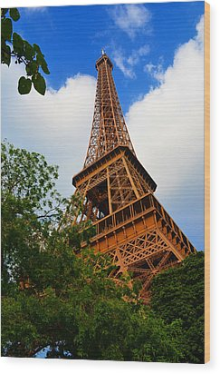 Eiffel Tower Paris France Wood Print by Patricia Awapara