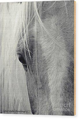 Equine Study Wood Print by Laurinda Bowling