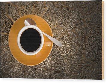 Espresso Wood Print by Chevy Fleet