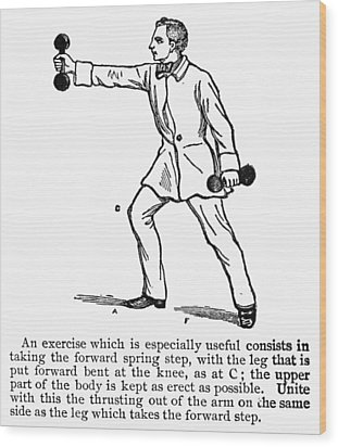 Exercise, 19th Century Wood Print by Granger