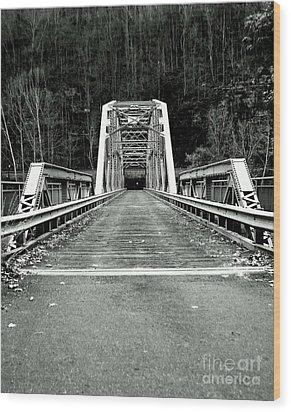 Fayette Station Bridge Wood Print by Amy Sorrell