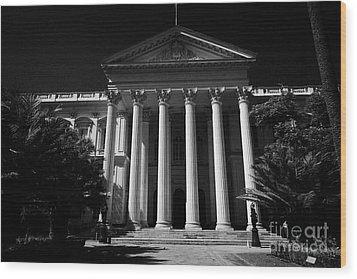 former national congress building Santiago Chile Wood Print by Joe Fox