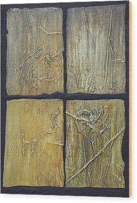 Four Seasons. Wood Print by Steve  Hester