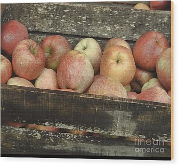 Wood Print featuring the photograph French Market Apples by Catherine Fenner